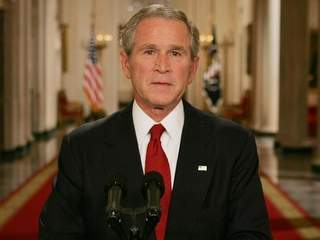 George W Bush presidential address urging Americans to support bailout